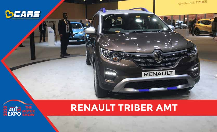 Bs6 Renault Triber Amt Showcased At Auto Expo 2020